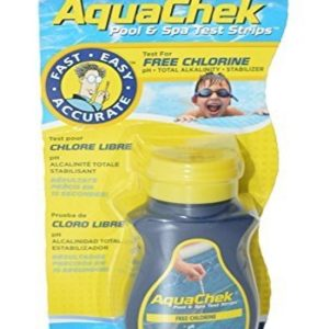 Bandelettes test chlore et PH piscine AQUACHEK jaune