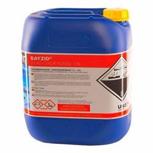 Bidon 25 Kg de chlore liquide BAYZID SW535 traitement