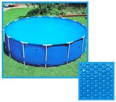 Bache à bulle ronde pour piscine tubulaire INTEX Ø 2m 3m 4m et 5m couverture solaire pour garder chaleur maximum 160 microns top3