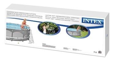 Echelle double sécurité INTEX piscine hors-sol