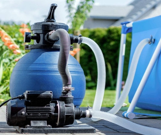 Filtration à sable pour piscine hors sol ou enterrée pour eau propre, claire, et filtrée, avec vanne multi voies laver, rincer, filtrer, et hivernage top4