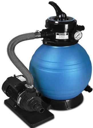 Filtre à sable 10 m3 pour piscine DEUBA pompe 400 W bassin aquatique, avec indicateur de pression eau, multifonction lavage, rinçage, filtration top4