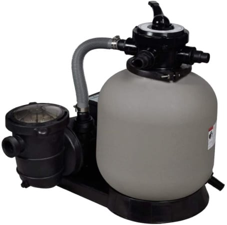 Filtre à sable 17 m3 pour piscine vidaXL pompe 600 W avec vanne lavage, filtration, rinçage, hiver et manomètre pour indication pression d'eau top4
