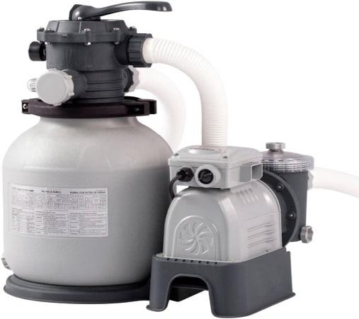 Filtre à sable 6 m3 pour piscine INTEX pompe 250 W avec manomètre pression de filtration, pour sable ou verre filtrant, idéal hors-sol pour eau filtrée top4