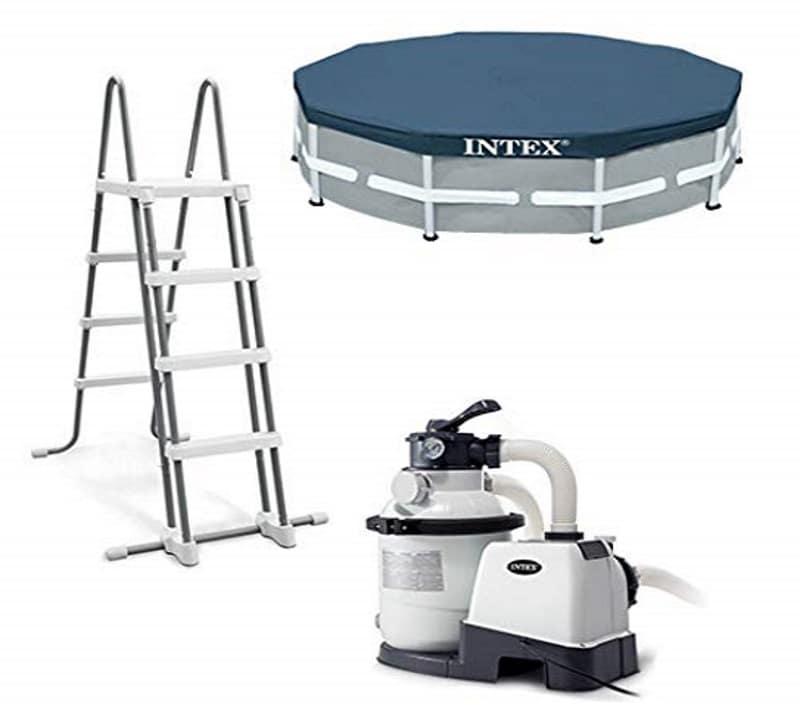 piscine tubulaire ronde intex 4m27 x 1m22 26312fr. Black Bedroom Furniture Sets. Home Design Ideas