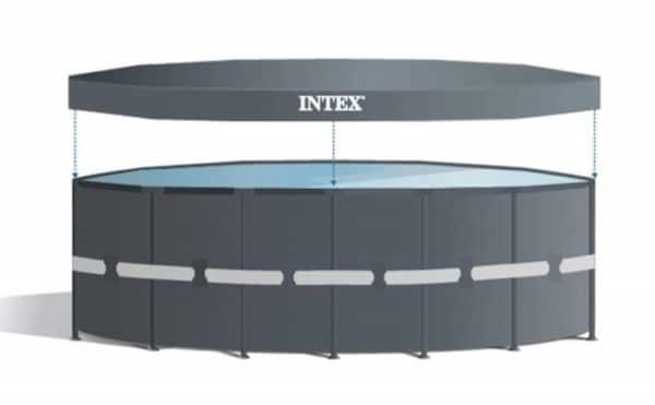 Piscine Ultra XTR ronde 4,88m x 1,22m 26326GN bâche protection