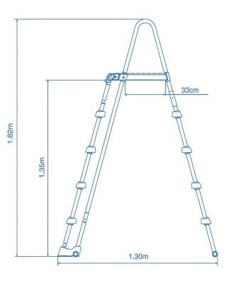 Piscine ronde tubulaire 26330GN Ultra XTR dimensions sécurité