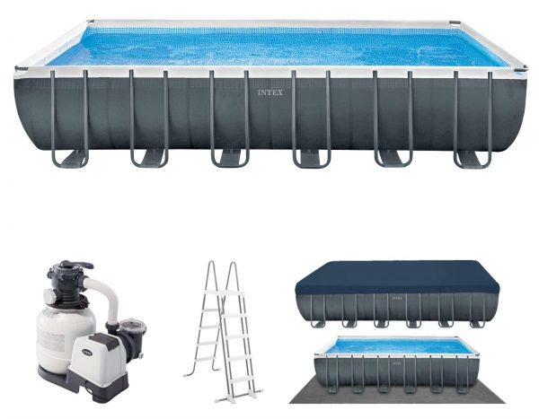 Piscine tubulaire INTEX 26364GN ensemble