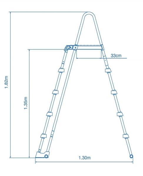 Piscine ronde graphite intex 26384GN dimension échelle