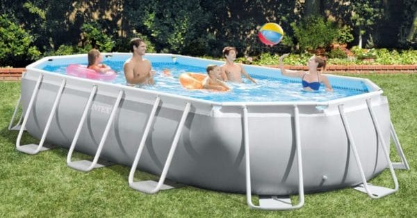 Piscine tubulaire ovale INTEX 26796NP famille