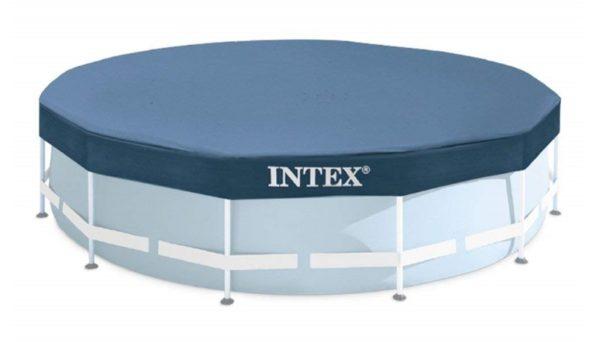 Bâche de protection piscine ronde 28031 INTEX couverture