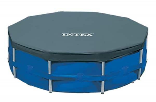 Bâche de protection piscine ronde 28031 INTEX ensemble