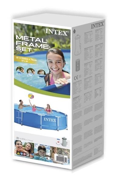 Piscine Metal Frame Ronde 28212NP 366x76cm boite carton