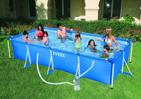 Piscine rectangulaire tubulaire 28274FR Metal Frame Junior famille