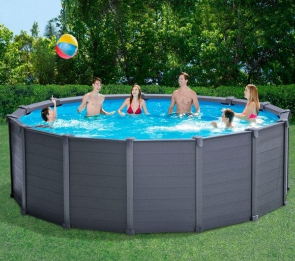 Piscine tubulaire graphite intex 28382 famille