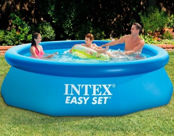 Piscine ronde autostable intex 56922 famille
