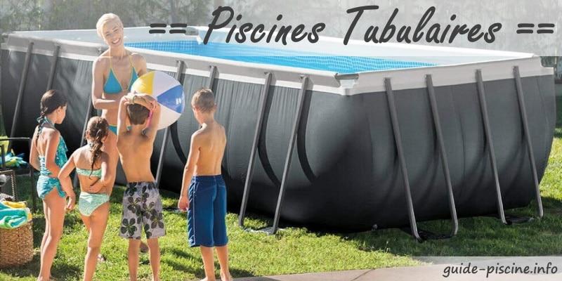 Meilleures piscines tubulaires pas cher, rectangulaire, ronde, sans ou avec filtration et échelle de sécurité, pour baignade en famille top6