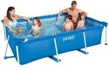 Piscine hors sol tubulaire à petit prix rectangulaire, idéal pour enfants et famille, liner renforcé, filtration d'eau INTEX Metal Frame Junior top6