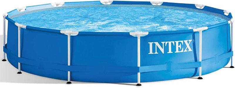 Piscine tubulaire ronde démontable sans épurateur d'eau rapide à monter, structure acier et PVC de marque INTEX, diamètre 366 cm bleu top6