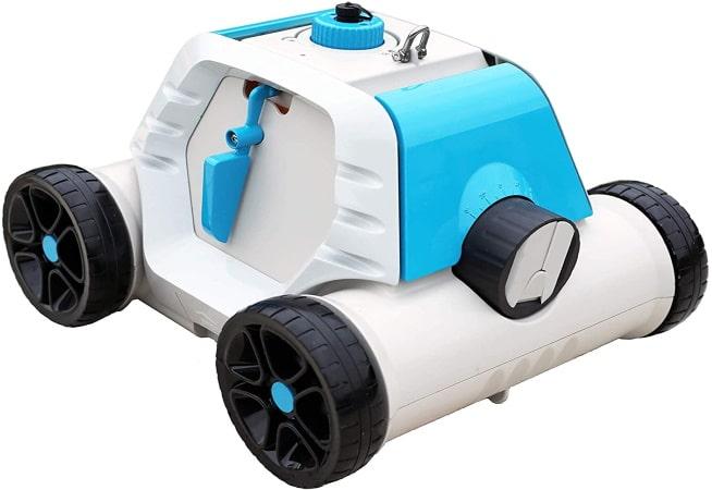 Robot piscine électrique BESTWAY Thetys avec batterie rechargeable pour piscines à fond plat pas cher économique top4