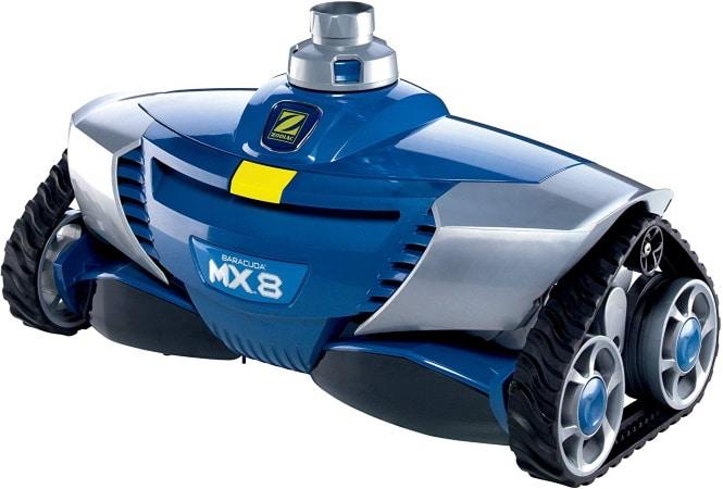 Robot piscine ZODIAC MX8 hydraulique pour fond et paroi des piscines sans fil et non électrique pour revêtements carrelage liner coque W70668 top4
